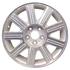 03677 Factory, OEM Reconditioned wheel 17 X 7; Sparkle Silver w/Machined Face