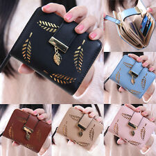 Women Fashion Bifold Wallet Leather Clutch Card Holder Purse Lady Short Handbag