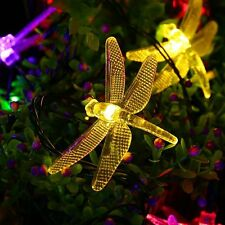 Dragonfly Solar Powered 20LED Fairy String Light Outdoor Xmas Party Garden