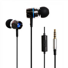 Metal Turbine Stereo Headphone 3.5mm In ear Earphone Headset With Mic iPhone/Pc