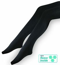 3 Thermal Ladies Tights - Ski Tights in black for below - opaque Winter Tights