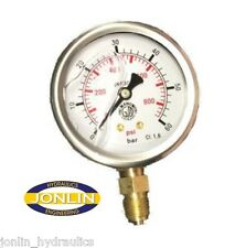"""2.5"""" Hydraulic Pressure Gauge - ALL RANGES AVAILABLE, Metric & Imperial Readings"""
