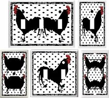 BLACK ROOSTER BEAUTIFUL KITCHEN DECOR LIGHT SWITCH COVER PLATE OR OUTLET V859
