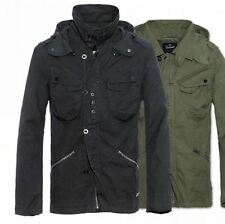 BRANDIT BYRON VINTAGE JACKET MENS MILITARY M65 STYLE ARMY LIGHTWEIGHT JACKET