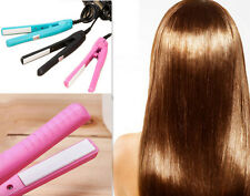 Pink Hot Straightening Mini Hair Straightener Ceramic Electronic Curls comb Iron