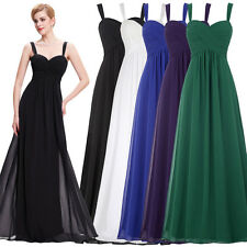 Bridesmaid Long Dress Party Cocktail Formal Chiffon Wedding Ball Gown Evening