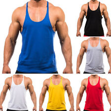 Men Athletic Fitness Vest Shirt Workout Gym Tank Tops Training Sleeveless Tee MD