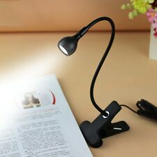 Mini USB Clip Flexible Reading LED Light Clip-on Beside Bed Table Desk Lamp Book