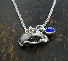 PERSONALIZED Volkswagen Necklace - choose your Birthstone, Volkswagen Jewelry