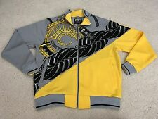 CROOKS & CASTLES CHAIN TRACK JACKET GREY YELLOW MEDIUM M supreme