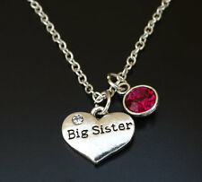 PERSONALIZED Big Sister Necklace - choose your Birthstone, Big Sister Gift
