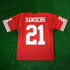 DEION SANDERS 1994 San Francisco 49ers MITCHELL & NESS Authentic Home Red Jersey