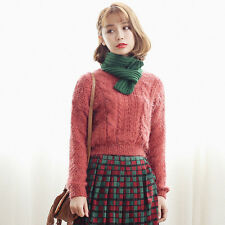 Womens Casual Long Sleeve Pullover Knitwear Tops High Waist Cardigan Sweaters