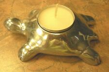 ART DECO/MODERN  ~  Metal Turtle Votive Candle Holder