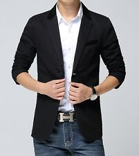 Mens Stylish Slim Fit Two Button Suit Casual Formal Blazer Coat Jacket Outerwear