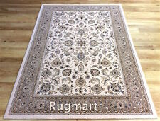 HIGH QUALITY Beige Cream Classic Traditional Persian New Zealand Wool Rug Runner