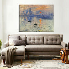 "RISING SUN MODERN ABSTRACT HOME DECOR ART OIL PAINTING ON CANVAS ""no frame"""