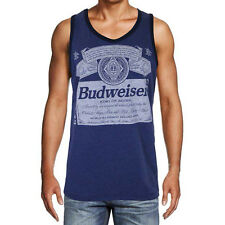 Budweiser Officially Licensed King Of Beers Retro Men's Tank Top Blue