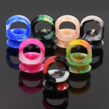 ALL 9 PAIRS-THIN SOFT SILICONE-EAR GAUGES-EAR PLUGS EXPANSER-DOUBLE FLARED