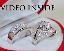 5.08 Carat Engagement & Wedding Engagement/Wedding Ring Sets St Silver Precious6