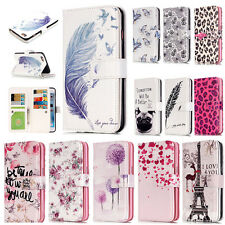 New Pattern Magnetic Flip Leather Wallet Card Slot Stand Case For iPhone Samsung