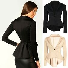 New Sexy Women's One Button Slim Casual Business Blazer Suit Jacket Coat Outwear