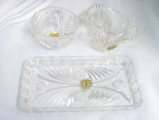 Princess House Creamer and Sugar Bowl with Tray 24% Lead Crystal W GERMANY