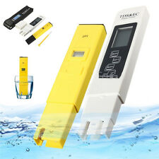 EC Water Purity PPM Hydroponic Pool Filter Tester Pen Digital LCD PH Meter TDS