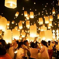 10Pcs Chinese Flying Lanterns Fire KongMing Light Wishing Lamp Wedding Party