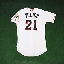 CHRISTIAN YELICH MIAMI MARLINS AUHENTIC ON-FIELD HOME WHITE COOL BASE JERSEY