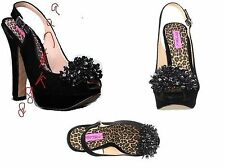 NEW Womens Besty Johnson Impulse Slingback Platform Heel Pump Shoes Retail $200