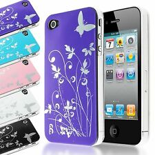 HIGH GLOSS PLASTIC CASE FOLIAGE FLOWER DESIGN BACK COVER FOR IPHONE 4S 4