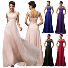 Long Formal Appliques Chiffon Evening Prom Gown Wedding Party Bridesmaid Dresses