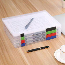 New Transparent A4 Storage Box Clear Plastic Document Paper Filling Case File