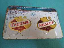 VINTAGE OLD RARE COLLECTIBLE FALSTAFF BEER AD.LITHO TIN SIGN BOARD #3818