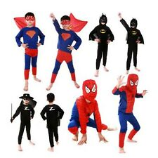 Halloween Boy Children Spider man Superhero Batman Superman Costumes Cosplay