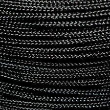 Polypropylene Rope Braided Cord Woven Twine Boating Camping Climbing - Black