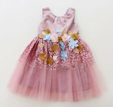 Pink Sequin Party Birthday Wedding Girls Dress Ex-Monsoon - 2-7 Years