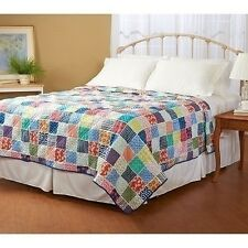 NEW Twin Full Queen King Quilt Coverlet Bright Colors Summer Beach Patchwork NWT