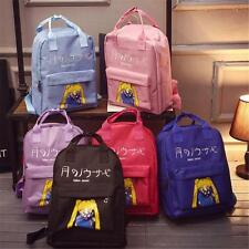 Cartoon Sailor Tsukino Usagi Girls Harajuku Canvas Backpack bookbag school bag #