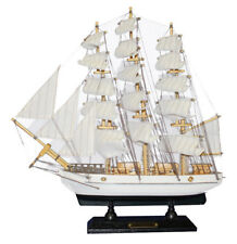 White Angel Statues & Figurines NEW Constitution Wooden Sailing Boat