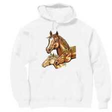Pullover Hooded Western Sweatshirt Country Horse Horses