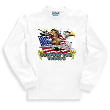 Patriotic Sweatshirt Support Our Troops America American Flag Eagle Military
