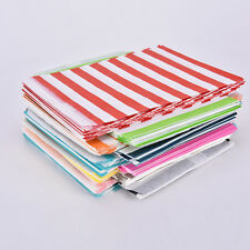 25/50pcs Striped Paper Lolly Candy Buffet Bags Birthday Wedding Party Favour BDA