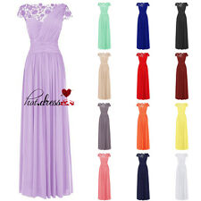 New Style Long Formal Gown Ball Party Evening Prom Bridesmaid Dresses Stock 6-20