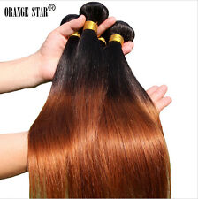 Brazilian Ombre Hair Extensions Two Tone Ombre Straight Human Hair Weave Weft