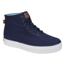 Ladies Official Keds Triple Hi Peacock Navy White Soled Laceup Trainers