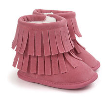 Winter Warm Snow Boots Baby Infant Boys Girl Double Fringe Moccasins Plush Shoes