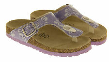 Young Girls Floral Print Buckled Toe Post Sandals Kids Summer Sandals Sz Size 9