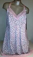 Delta Burke Plus Size 1X 2X 3X Beautiful Chemise Pink Shell Leo With Lace Insert